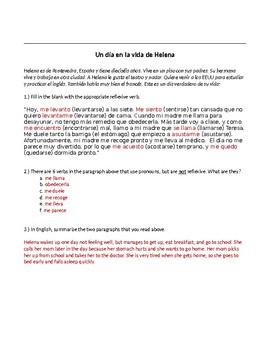 Authentic Spanish Reflexive Verb Practice