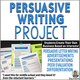 PERSUASIVE WRITING PROJECT - Common Core Grades 6-7-8