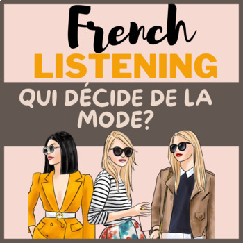 Authentic material French francais vetements clothes mode audio questions video