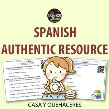 Authentic resource (video) Spanish 1: CASA, colors, COMPARISONS