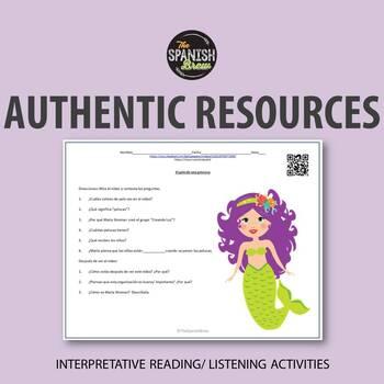 Authentic resource Spanish 1: pelo, physical descriptions,