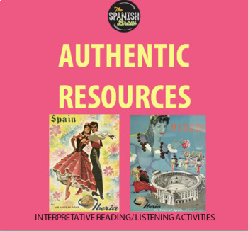 Authentic resource video Spanish 1: quehaceres, chores, present progressive
