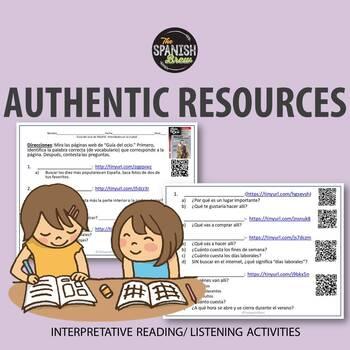 Authentic resource Spanish- El centro/ comunidad- Guia Ocio Madrid