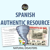 Authentic resource Spanish- Natural disasters (preterite & imperfect) BUNDLE