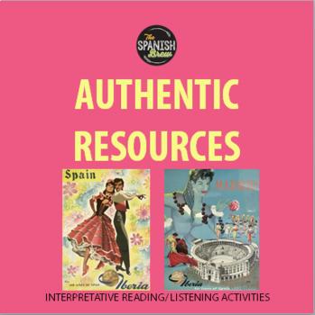 Authentic resource Spanish class- Comunidad/ ciudad- Pueblos abandonados