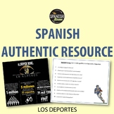 Authentic resource video Spanish 1: los deportes, sports, fútbol americano