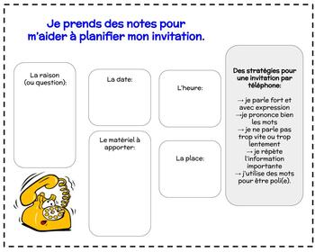 FSL authentic tasks (tâches authentiques):  les invitations