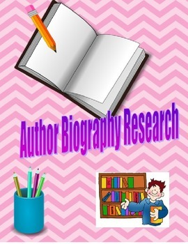 Author Biography Research Template