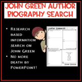 Author Biography Search: John Green
