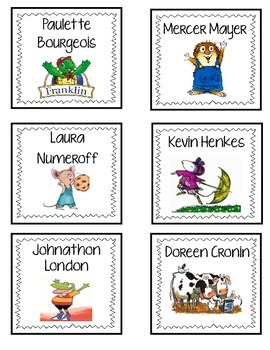 Author Book Bin Labels