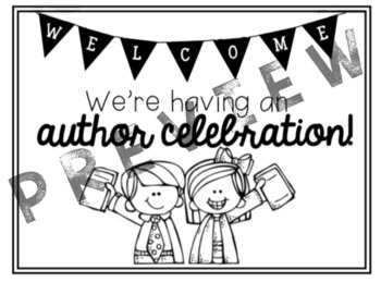 Author Celebration Sign