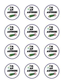 "Free Publishing Party ""I'm An Author!"" Stickers"