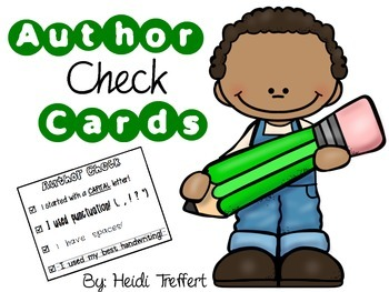 Author Check Cards for Independent Writing!