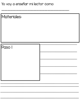 How-to books planning templates (Spanish)