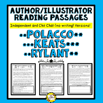 Author Illustrator Reading Passages (Polacco, Keats, Rylant)