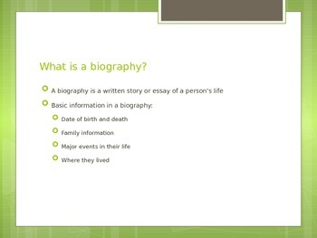 Author Paper - Biography Notes