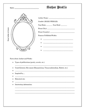 Author Profile Handout