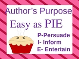 Author' Purpose PowerPoint- You decide the Author's Purpose