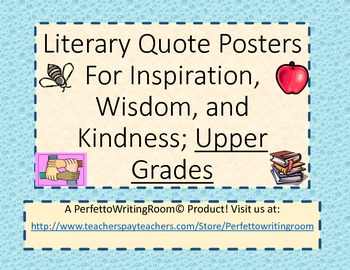 Author Quote Posters of Inspiration, Wisdom, Kindness. Gr. 6 up.