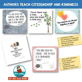 Author Quotes for Classroom Display | Teach Citizenship and Work Ethic