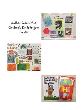 Author Research & Children's Book Project Bundle