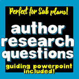No-prep Author Research Questions & Guiding PowerPoint