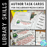 Library Skills Author Search Task Cards in the School Library Media Center