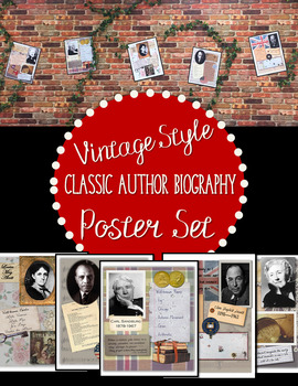 Author Shadowbox Poster Collection
