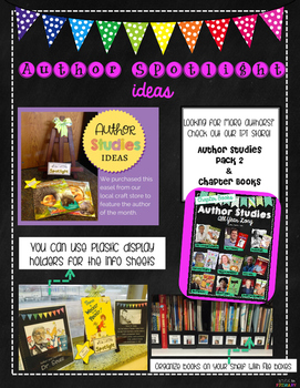 Author Studies All Year Long and Activities: Pack 1