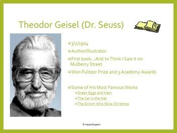 Author Studies: March Famous Author Birthdays PowerPoint