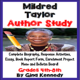 Mildred Taylor Author Study, Biography, Reading Response,