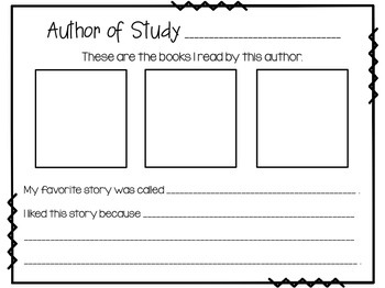 Author Study {16 Read & Respond Sheets}