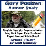 Gary Paulsen Author Study, Biography Reading Response & Projects!