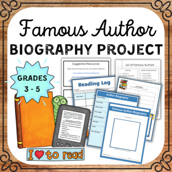 Author Study **FREEBIE** (A Comprehensive Author Study Packet)