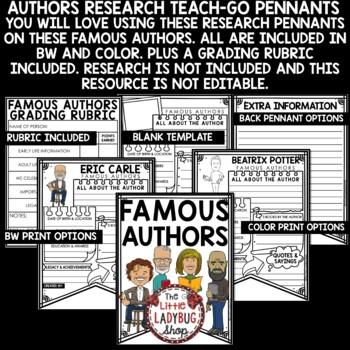 Author Study  - Mo Willems, Robert Munch, Jan Brett & More • Teach- Go Pennants™