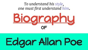 Author Study Activity:  Edgar Allan Poe! (Biography, Audio, Videos, & more!)