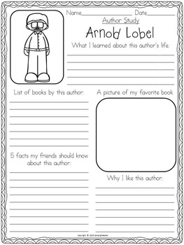 Author Research Study Activity Set 3