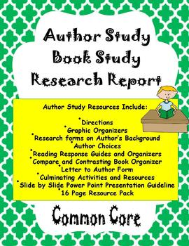 Author Study Common Core