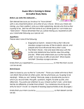 Author Study Dinner Project