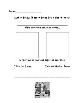 Author Study: Dr. Seuss