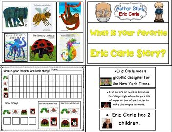 Author Study: Eric Carle (Book Companion Bundle with extra Author activities)