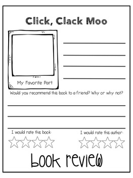 Author Study Flip Books