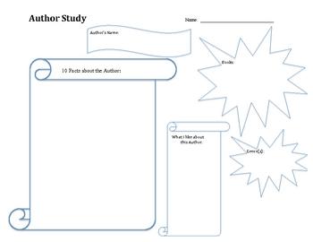 Author Study Graphic Organizer