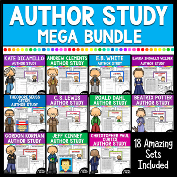 Author Study Mega Bundle- 12 great authors