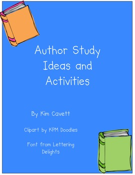 Author Study Ideas and Activities