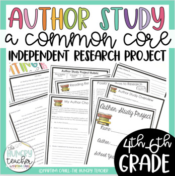Author Study Independent Project (Common Core Aligned for 4th, 5th, and 6th)