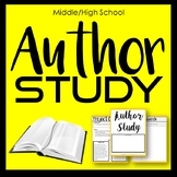 Author Study - Inquiry Based, Project Based Learning Activity Workbook