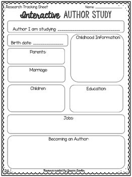 Author Study Interactive Notebook Foldables For ANY Author