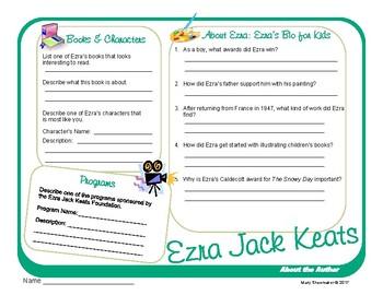 Author Study ~ Internet Research ~  Ezra Jack Keats