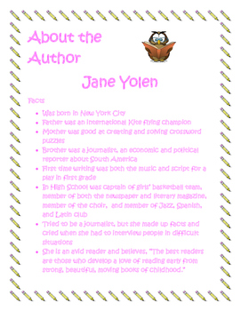 Author Study Jane Yolen